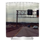 Interstate 70 West At Exit 8b, Interstate 435 North Exit, 1987 Shower Curtain
