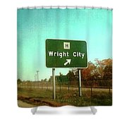 Interstate 70 West At Route H Exit, 1976 Shower Curtain