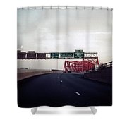 Interstate 74 East Approach Exit 94, Industrial Spur Exit, 1987 Shower Curtain