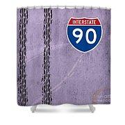 Interstate 90 Shower Curtain