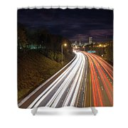 Interstate Freeway Through Portland Oregon Downtown Shower Curtain