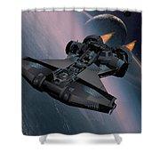 Interstellar Spacecraft Shower Curtain