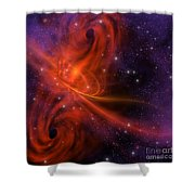 Interstellar Twister Shower Curtain