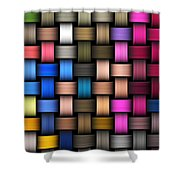 Intertwined Abstract Background Shower Curtain