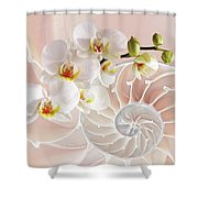 Intimate Fusion In Soft Pink Shower Curtain