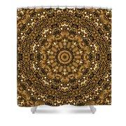 Into A Golden Basket Shower Curtain