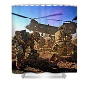 Into Battle - Painting Shower Curtain