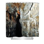 Into Crystal Cave Shower Curtain