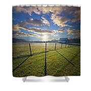Into December Shower Curtain