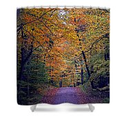 Into Fall Shower Curtain