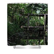 Into Green Shower Curtain
