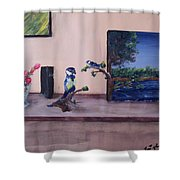 Into Reality Shower Curtain