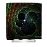 Into Space And Time Shower Curtain