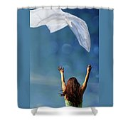 Into The Atmosphere Shower Curtain