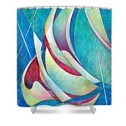 Into The Breeze Shower Curtain