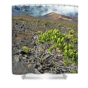 Into The Crater Shower Curtain