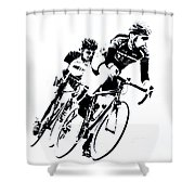 Into The Curve Shower Curtain