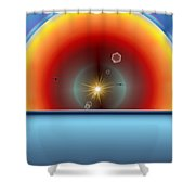 Into The Eye Of The Sunset Shower Curtain