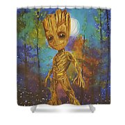 Into The Eyes Of Baby Groot Shower Curtain