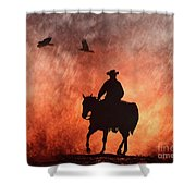 Into The Fire. Shower Curtain