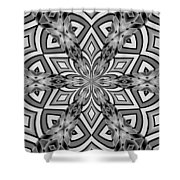 Into The Floral Shower Curtain