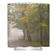 Down The Mountain, Into The Fog Shower Curtain