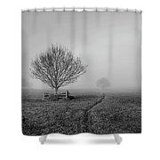 Into The Fog Shower Curtain