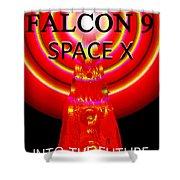 Into The Future Falcon 9 Shower Curtain