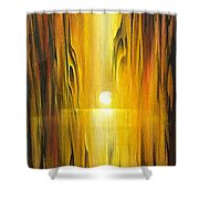 Into The Grain Shower Curtain