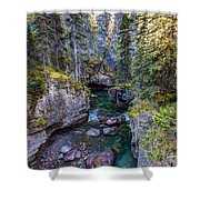 Into The Heart Of Maligne Canyon Shower Curtain