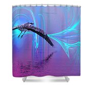 Into The Lagoon Shower Curtain