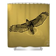 Into The Light - Sepia Shower Curtain