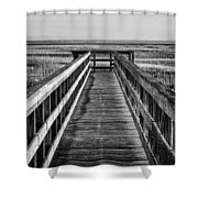 Into The Marsh  Shower Curtain