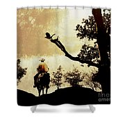 Into The Mountains. Shower Curtain