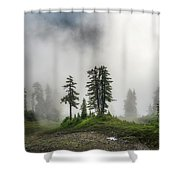 Into The Myst Shower Curtain