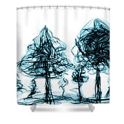 Into The Mysterious Forest Of Imagination Shower Curtain