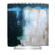 Into The Navy Blue Shower Curtain