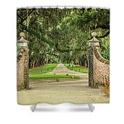 Into The Oaks Shower Curtain