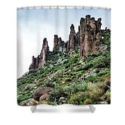 Into The Past Shower Curtain