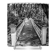 Into The Swamp Shower Curtain