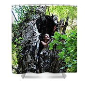 Into The Tree Shower Curtain