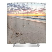 Into The Waves Shower Curtain