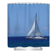 Into The Wild Blue Ocean Shower Curtain