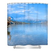 Into The Wild Blue Yonder Shower Curtain