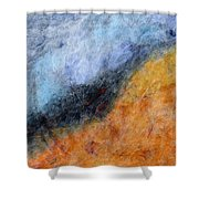 Into The Wind Abstract Shower Curtain