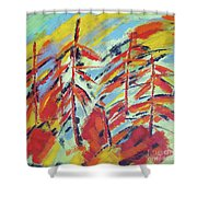 Into The Woods I Go Shower Curtain