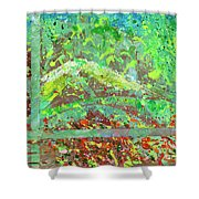 Into The Woods-through The Looking Glass Shower Curtain