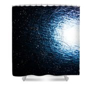 Into The Wormhole  Shower Curtain