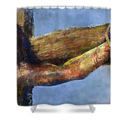 Into Your Hands Shower Curtain