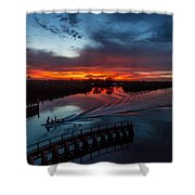 Intracoastal Sunset Shower Curtain